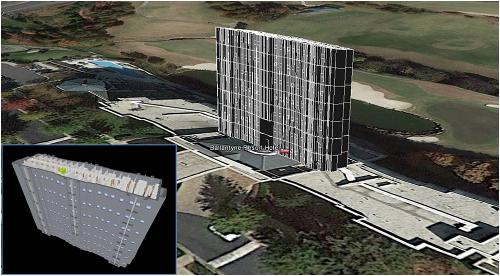 iBwave building CAD imported into Google Earth