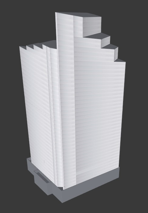 3D CAD of 42 story building in Minneapolis. Building and floor plan CAD drawings created manually.